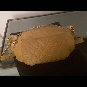 Chanel yellow fanny pack